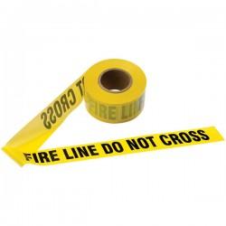 Presco - EALB31022Y15PR - Presco Barricade Tape, 2.5 mil, Fire Line Do Not Cross, Yellow, 1/Roll