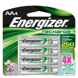 Energizer - NH15BP4EN - Energizer Recharge AA Batteries, 2300 mAh, 4/Pkg