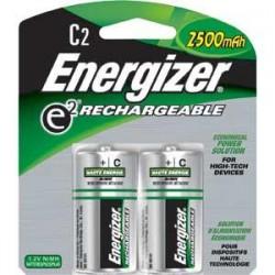 Energizer - NH35BP2EN - Energizer Recharge C Batteries, 2500 mAh, 2/Pkg