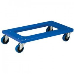 Akro-Mils / Myers Industries - RMD3018F4PNABAM - Akro-Mils Flush Polyethylene Dolly w/ Casters, Blue