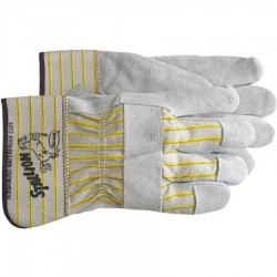 Boss / Cat Gloves - 1290J - Jumbo Gray/Yellow Driver Gloves