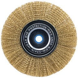 Vermont American - 16791 - 3-Inch Coarse Crimped Wire Brush with Arbor Attached
