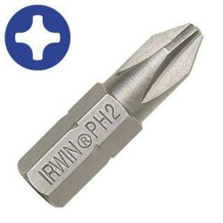 IRWIN Industrial Tool - 92047 - #1 Phillips 1-Inch Drywall Insert Bit - 1 Each