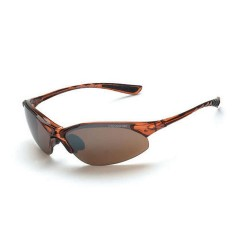 Radians - 15117 - Cobra Crystal Brown Frame Safety Sunglasses with HD Brown Flash Mirror Lenses