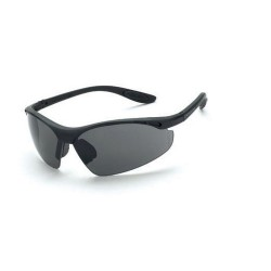 Radians - 121 - Talon Matte Black Frame Safety Sunglasses with Smoke Lenses