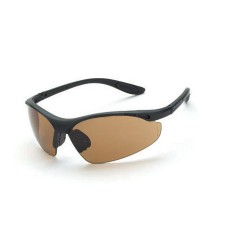 Radians - 126 - Talon Matte Black Frame Safety Sunglasses with HD Brown Lenses