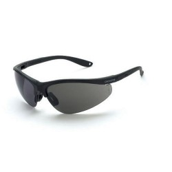 Radians - 1731 - Brigade Matte Black Frame Safety Sunglasses with Smoke Lenses