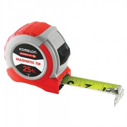 Komelon - 72425 - 25-Foot Magnetic Tip Red Tape Measure