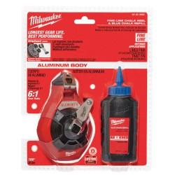 Milwaukee Electric Tool - 347036 - Milwaukee 48-22-3992 100' PRECISION CHALK N REEL W BLUE