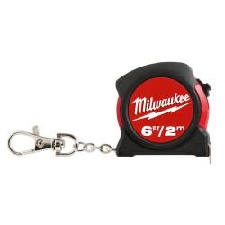 Milwaukee Electric Tool - 347043 - Milwaukee 48-22-5506 6ft / 2M KEYCHAIN TAPE MEASURE (Bulk)