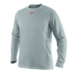 Milwaukee Electric Tool - 375538 - Milwaukee 411G-L WORKSKIN Light Weight Long Sleeve Shirt, Gray, Large