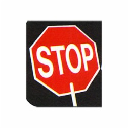 Harris Industries - STST-4 - Harris Industries STST-4 Paddle Sign STOP (Both Sides); Bo...