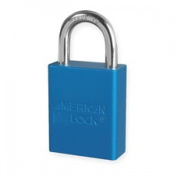 Master Lock - A1105BLU - Padlock Keyed Different Aluminum Blue 1 In L 1/4 In Diameter American Lock, Ea