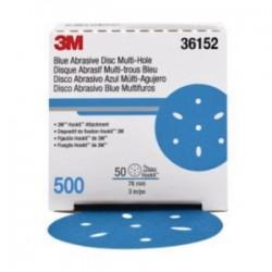 3M - 05113136152 - 3M 05113136152 Hookit Blue Abrasive Disc; 3 Inch, Grade 500...