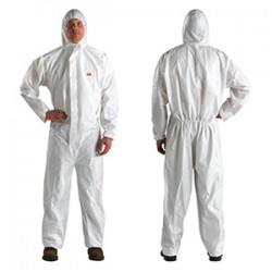 3M - 4510AAD-XL - 3M 4510AAD-XL Disposable Protective Coverall with Hood POP P...