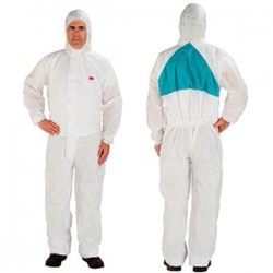 3M - 4520AAD-L - 3M 4520AAD-L Disposable Protective Coverall with Hood and PO...
