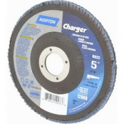 "Norton - 66261119273 - 5""x7/8"" 80x Grit R822charger Flap Disc"