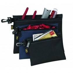 Custom Leathercraft - 1100 - Custom Leather Craft 1100 Multi-Purpose Clip-on Zippered Poly Bags, (3-Pack)