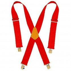 Custom Leathercraft - 110RED - Custom Leather Craft 110RED 2-Inch Wide Nylon Adjustable Webbing Straps, (Red)