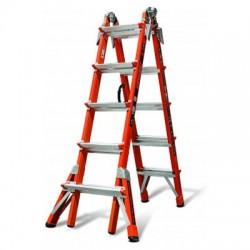 Little Giant - 15146-186 - Fiberglass Multipurpose Ladder, 17 ft. Extended Ladder Height, 300 lb. Load Capacity