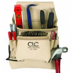 Custom Leathercraft - 178234 - Custom Leather Craft 178234 8-Pocket Top Grain Carpenter's Nail and Tool Bag