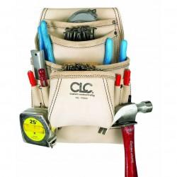 Custom Leathercraft - 179354 - Custom Leather Craft 179354 10-Pocket Top Grain Carpenter's Nail and Tool Bag