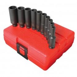 Sunex Tools - 1811 - Sunex Tools 1/4 Dr. 10 Pc. SAE Deep Impact Socket Set - Chrome Molybdenum - Heavy Duty