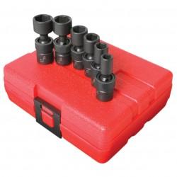 Sunex Tools - 1813 - Sunex Tools 1/4 Dr. 6 Pc. SAE Universal Impact Socket Set - Chrome Molybdenum - Heavy Duty