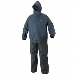 Coleman Company - 2000020426 - Coleman 35mm Blue/Gray PVC/Poly Lightweight Jacket and Pants Rain Suit - Large