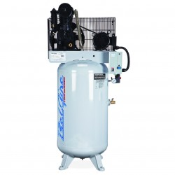 BelAire Compressors - 216V - BelAire 216V Vertical 5 Hp, 60 Gallon, 208/230v 1 Phase, 2-Stage Electric Compressor (13.75 ACFM @ 175 PSI)