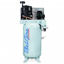 BelAire Compressors - 218V - BelAire 218V Vertical 5 Hp, 80 Gallon, 208/230v 1 Phase, 2-Stage Electric Compressor (13.75 ACFM @ 175 PSI)