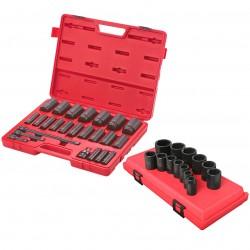 Sunex Tools - 2824PR - Suenx 2824PR 37-Piece 2-Inch Drive SAE Standard and Deep Socket Set