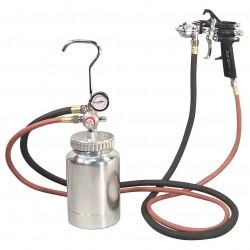 Astro Pneumatic Tool - 2PG8S - Astro Pneumatic 2PG8S 1.7mm Nozzle 2 Quart Pressure Pot with Gun and Hose