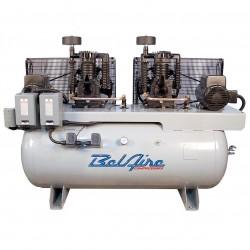 BelAire Compressors - 3112DL - BelAire 3112DL Horizontal 15 Hp 7.5 x 7.5, 120 Gallon, 208/230v 1Phase Duplex (44.56 Cfm@175)