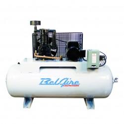 BelAire Compressors - 318HL - BelAire 318HL Horizontal 7.5Hp, 80Gal, 208/230v 1Phase, 2-Stage Electric Compressor w/ Magnetic Starter (22.2 CFM @ 175)