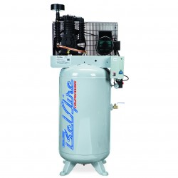 BelAire Compressors - 318VE - BelAire 318VE Vertical 5 Hp, 80 Gallon, 208/230v 1 Phase, 2-Stage Compressor(16.60 ACFM @ 175 PSI)