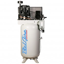 BelAire Compressors - 318VLE - BelAire 318VLE Vertical 7.5 Hp, 80 Gallon, 208/230v 1 Phase, 2-Stage Compressor (22.28 ACFM @ 175 PSI)