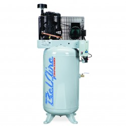 BelAire Compressors - 318VN - BelAire 318VN Vertical 5 Hp, 80 Gallon, 208/230v 1 Phase, 2-Stage Electric Compressor (16.60 ACFM @ 175 PSI)