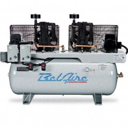 BelAire Compressors - 3312D - BelAire 3312D Horizontal 10Hp 5 x 5, 120 Gallon, 208-230/460v 3Phase Duplex (33.22 Cfm@175)