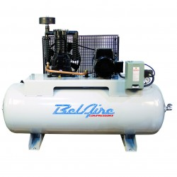 BelAire Compressors - 338HE4 - BelAire 338HE4 Horizontal 5 Hp, 80 Gallon, 460v 3 Phase, 2-Stage Compressor (16.60 ACFM @ 175 PSI)