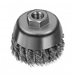 Milwaukee Electric Tool - 48-52-1650 - Milwaukee 48-52-1650 6-Inch 40671 Thread Carbon Steel Knot Wire Cup Brush