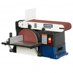 RIKON Power Tools - 50-120 - RIKON 50-120 110-Volt 6 x 48-Inch Cast Iron, Steel Belt and 10-Inch Disc Sander