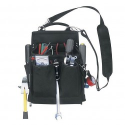 Custom Leathercraft - 5508 - Custom Leather Craft 5508 20-Pocket Steel Loop Pro Electrician's Tool Pouch
