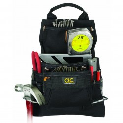 Custom Leathercraft - 5833 - Custom Leather Craft 5833 9-Pocket Handle Deisgn Ballistic Poly Nail And Tool Bag
