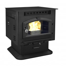 US Stove (USSC) - 6041 - US Stove 6041 52, 000-BTUs 120-CFM 2, 400-Sq.Ft. Multi-Fuel Stove on Pedestal