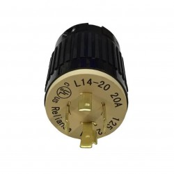 Generac - 6395 - Generac GNC-6395 20-Amp 4-Prong Generator Plug 12 Gauge Cord Up To 5000 Watts L14-20