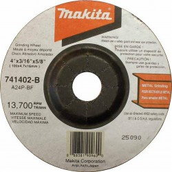 Makita - 741402-B-25 - Makita 741402-B-25 4'' x 3/16'' GRINDING WHEEL 25 Per Packet 9523NB