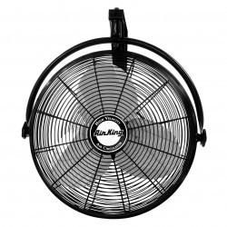 Air King - 9020 - Air King 9020 - 20 1/6 HP Wall Mount Fan - 20 Diameter - 3 Speed - Adjustable Tilt Head - 29.5 Height x 16.5 Width - Steel Blade, Steel Guard, Steel Mount - Black