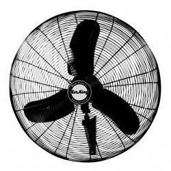 Air King - 9071 - Air King 9071 - 24 1/3 HP Wall Mount Fan - 24 Diameter - 3 Speed - 34.5 Height x 25 Width - Steel Guard, Steel Mount
