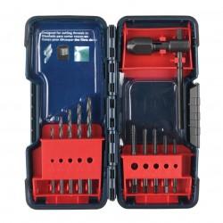 Bosch - B44710 - Bosch B44710 11-Piece Aluminum Black Oxide Tap and Drill Bit Assortment